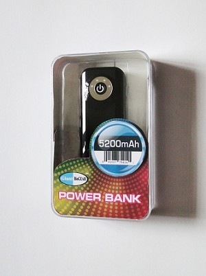 Power Bank 5200 mAh - Portable power for mobile electronics and GiantBioGEAR Heated Stadium Seat Cushion.